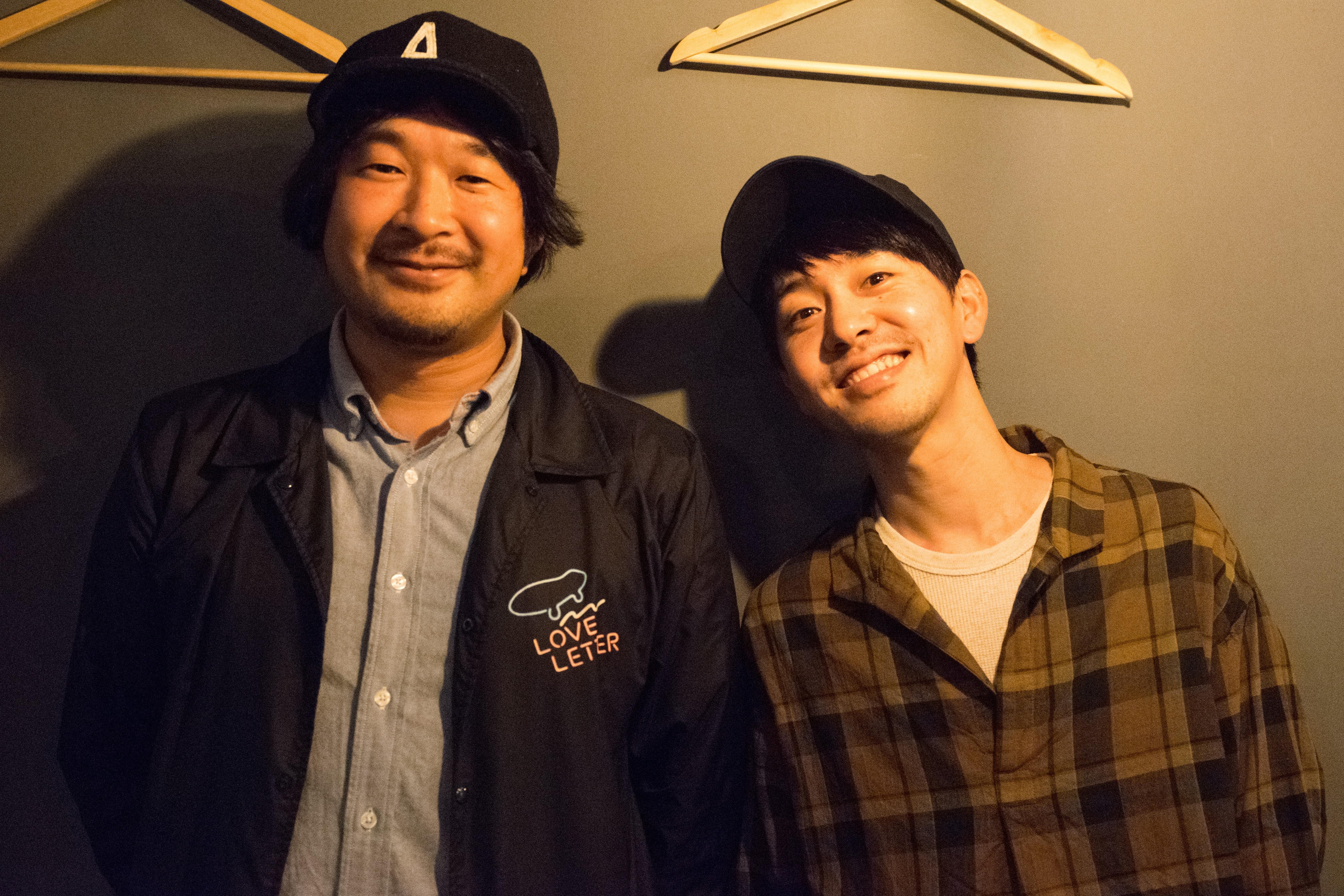 左からタイラダイスケ(FREE THROW)、nico(Sawagi)