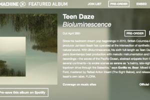 Teen Dazeのニュー・アルバム『Bioluminescence』の全曲試聴がHYPE MACHINEにて開始。