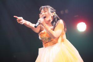 手作りのドレスを身につけた稲森のあ(燃えこれ学園)、生誕祭で、心の内を歌詞にしたソロ曲「myself」を披露!!